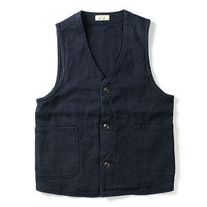 JAPAN BLUE JEANS 11oz Indigo Sashiko Hunting Vest