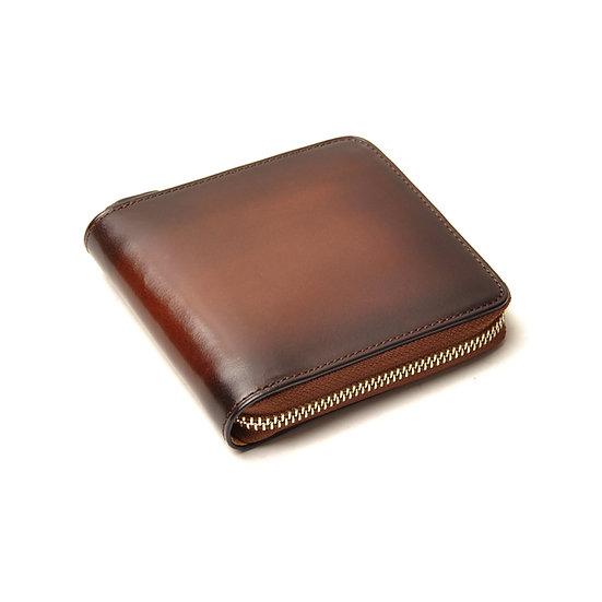 IL BUSSETTO Bi-Fold Zipped Wallet Cappuccino