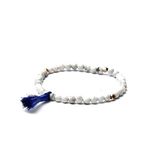 BRANCO Tassel Bracelet White Howlite