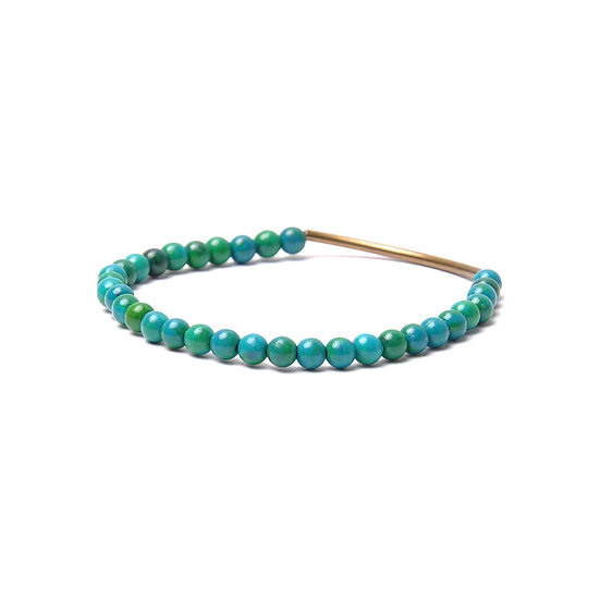 BRANCO Tubular Bracelet Eilat Stone Brass