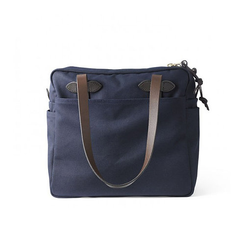 Filson Rugged Twill Tote Bag with Zipper Navy