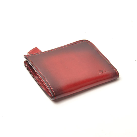 IL BUSSETTO Folding Zipped Wallet Tibetan Red