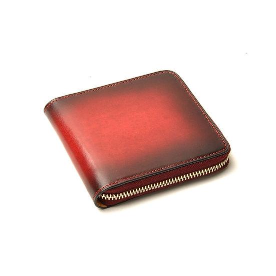 IL BUSSETTO Bi-Fold Zipped Wallet Tibetan Red