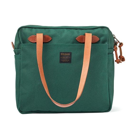 Filson Rugged Twill Tote Bag with Zipper Hemlock