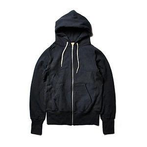 GOODWEAR S-Curve Raglan Zipfront Hooded Fleece Black