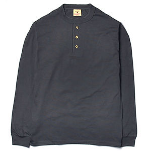 GOODWEAR Classic Fit Long Sleeve Henley Neck Tee Charcoal