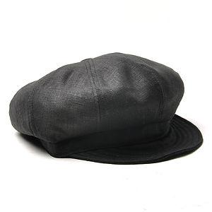 NEW YORK HAT Linen Spitfire Black
