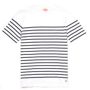 ARMOR-LUX Breton Striped Cotton Shirt White/Navy