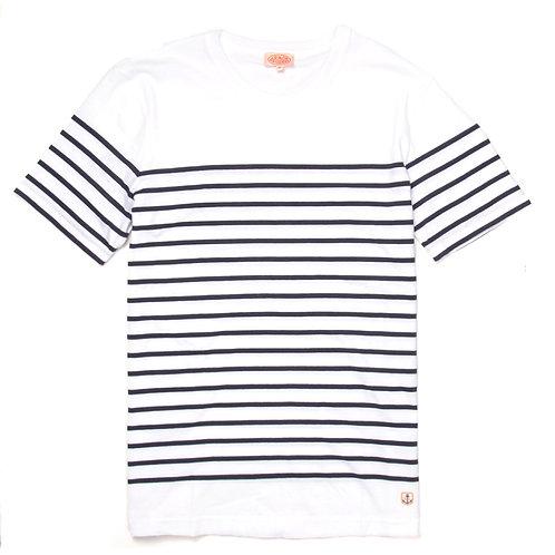 ARMOR-LUX Breton 條紋棉質襯衫 白色/海軍藍