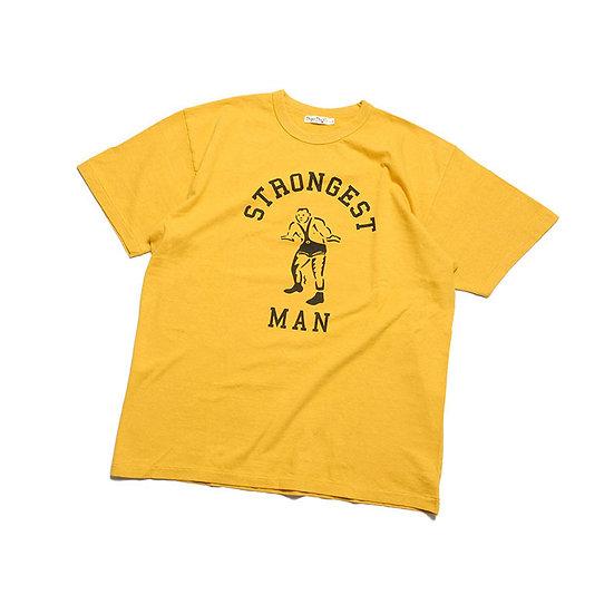 "BURGUS PLUS Print Tee ""Stongest Man"" Yellow"