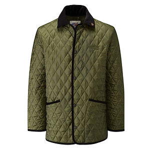 JOHN PARTRIDGE Rag Quilted Jacket Olive / Black