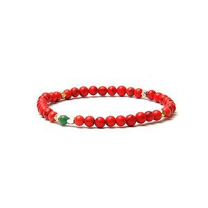 BRANCO Nomad Bracelet Red Howlite