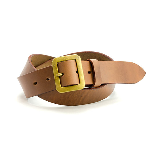 ART BROWN Horween Chromexel Leather Belt Light Brown