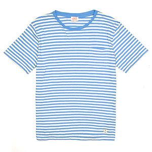 ARMOR-LUX Striped Cotton Linen T-shirt Héritage White/Blue