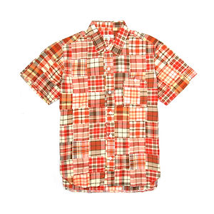 BURGUS PLUS Yamapoke S/S Patch Work Regular Shirt Red