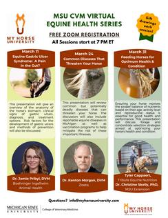 Michigan State University College of Veterinary Medicine Virtual Equine Health Series
