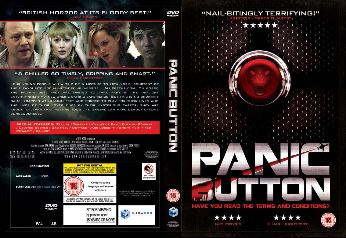 Panic Button DVD cover design.