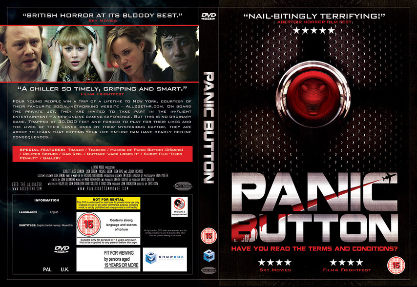 Panic Button DVD cover design.