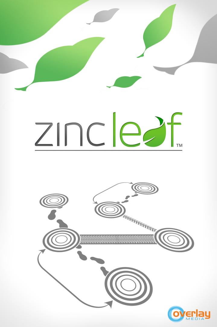 Splashscreen design for Zincleaf mobile app.