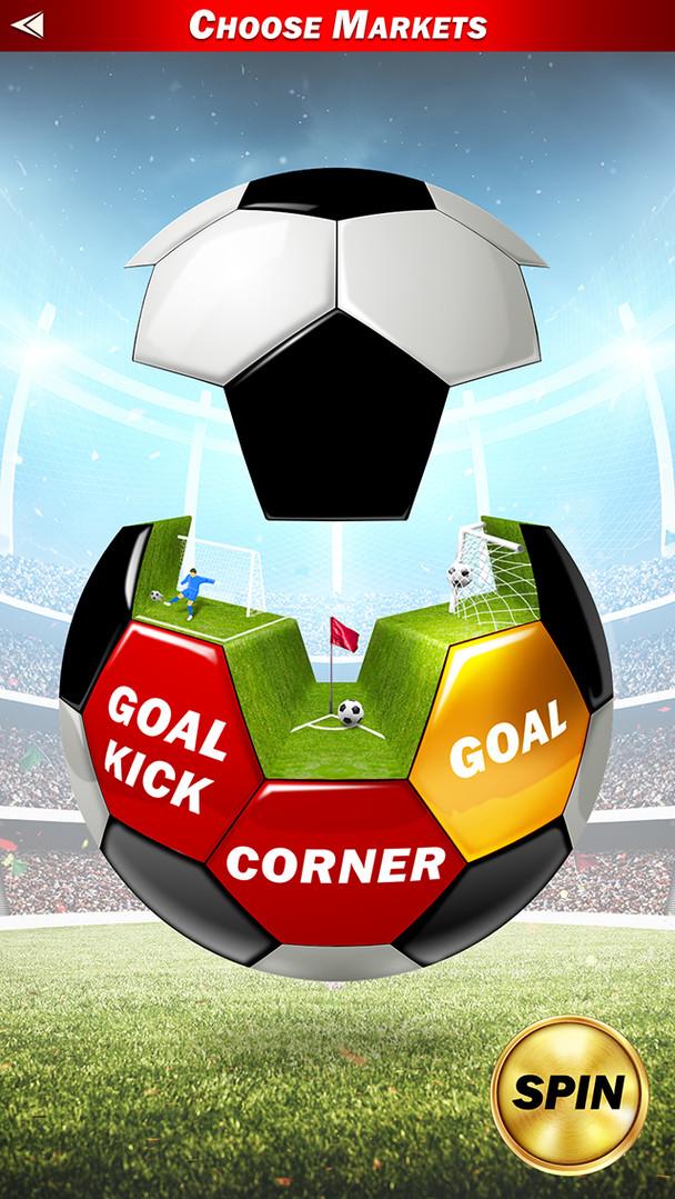 UI design for Football themed mobile gambling app.