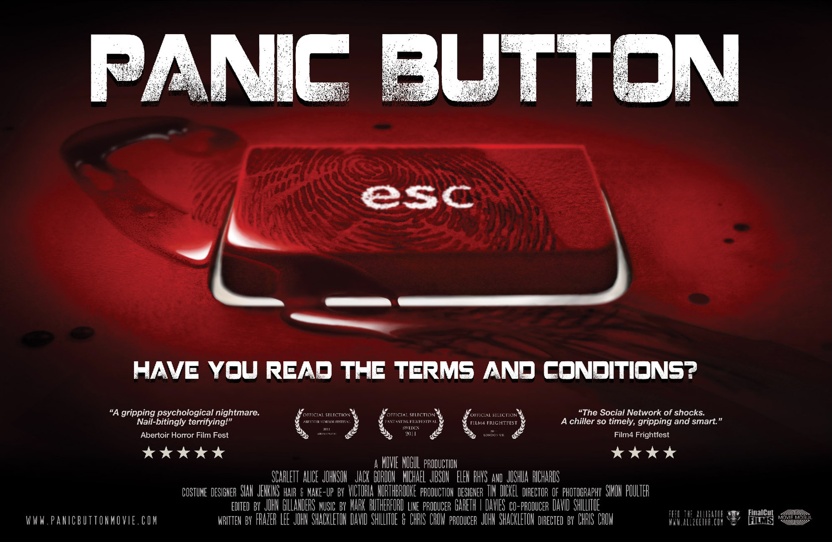 Panic Button alt poster design.