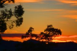 sunrise across Hobart