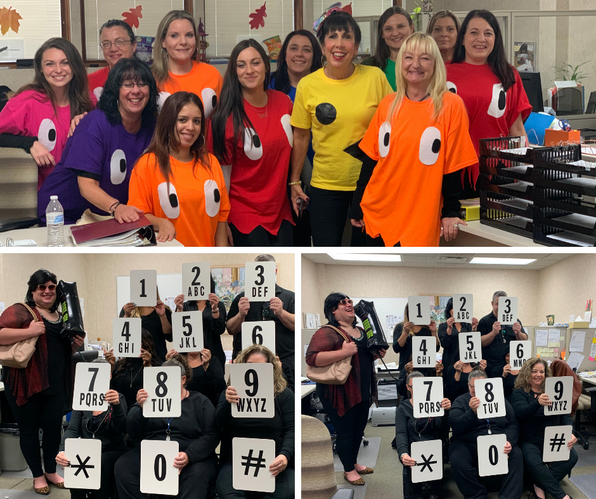 Phone Room - Winners for Funniest Costume (bottom pics)