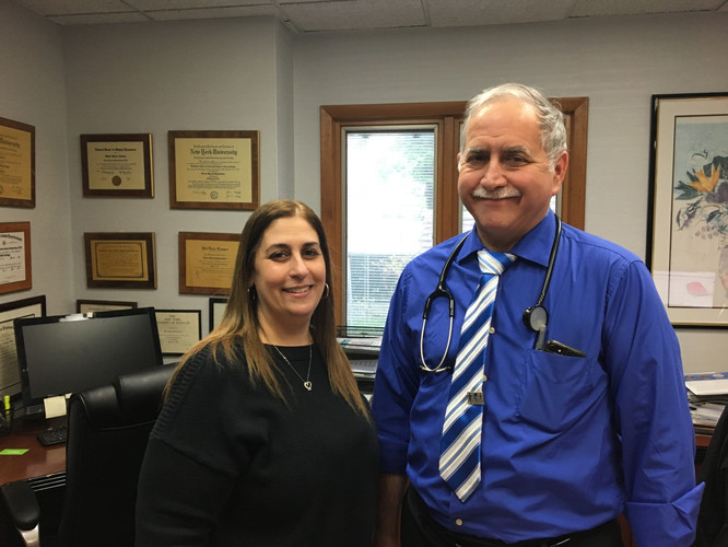 Dr. Schwartzberg pinned by Laurie