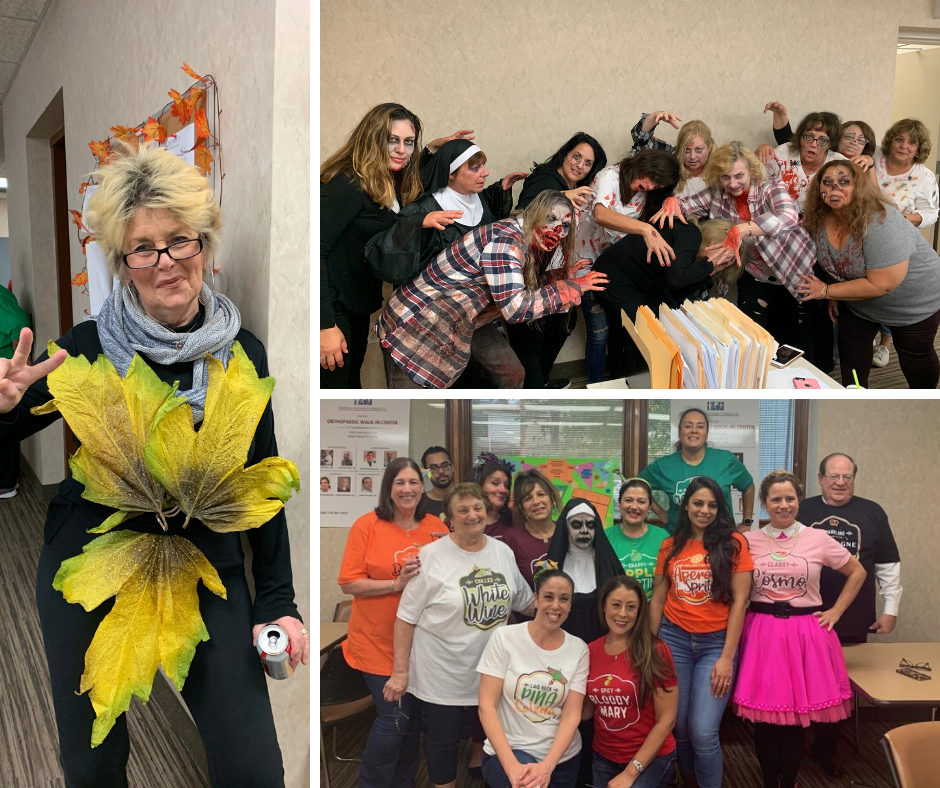 Billing Dept. - Winners for Scariest Costume (top right pic)