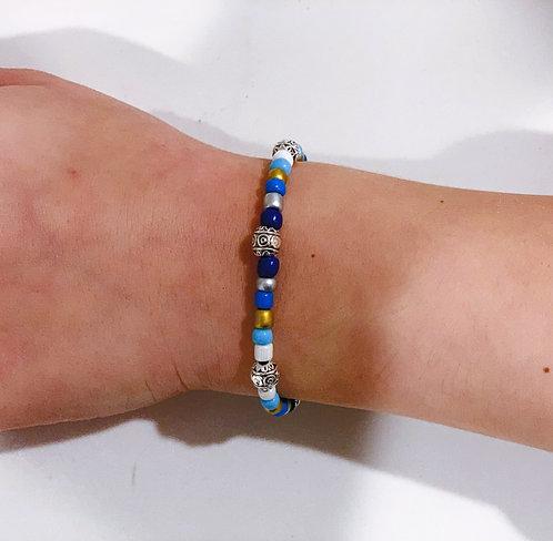 Metallic Blue Bracelet