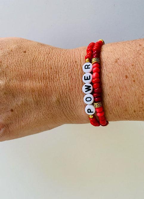 Red Power Bracelet Set