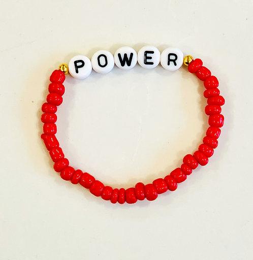 Red Power Bracelet