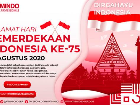 """""""Selamat Hari Kemerdekaan Indonesia Ke-75, 17 Agustus 2020"""" [] """"Happy 75 Indonesia In"""
