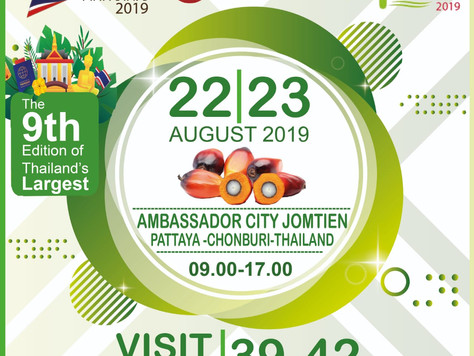 The 9th Edition of Thailand's Largest Palm Oil Technology Event! 22 - 23 August 2019.