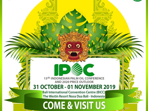 IPOC 2019 : The 15th Indonesian Palm Oil Conference and 2020 Price Outlook.
