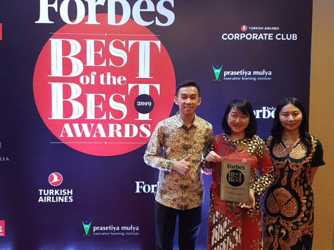 "PT. ATMINDO TBK, sebagai ""TOP 50 BEST COMPANIES IN INDONESIA 2019"" oleh FORBES INDONESIA"