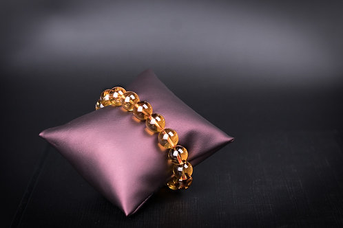 G013 天然黃晶珠手鏈 10mm      RMB1578.00