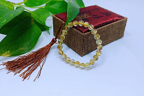 Ca016 天然金髮晶手鏈   尺寸:8mm  重量:15g HK$1680.00  RMB1482.00