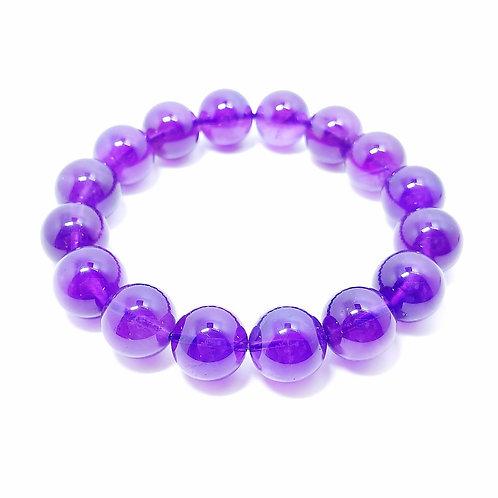 H009 天然紫水晶珠手鏈 12mm  RMB768.00