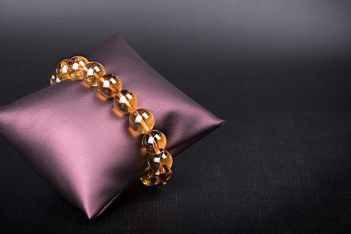 G013 天然黃晶珠手鏈 10mm     RMB1378.00