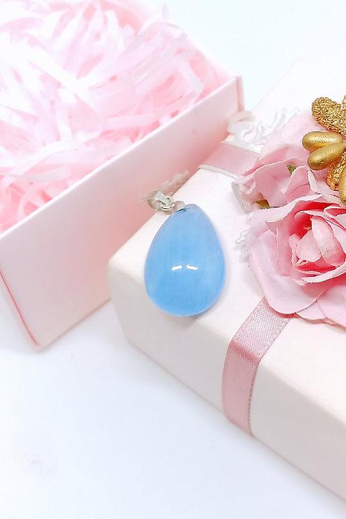 M157 天然海藍寶水晶吊墜   HK$728.00  RMB628.00