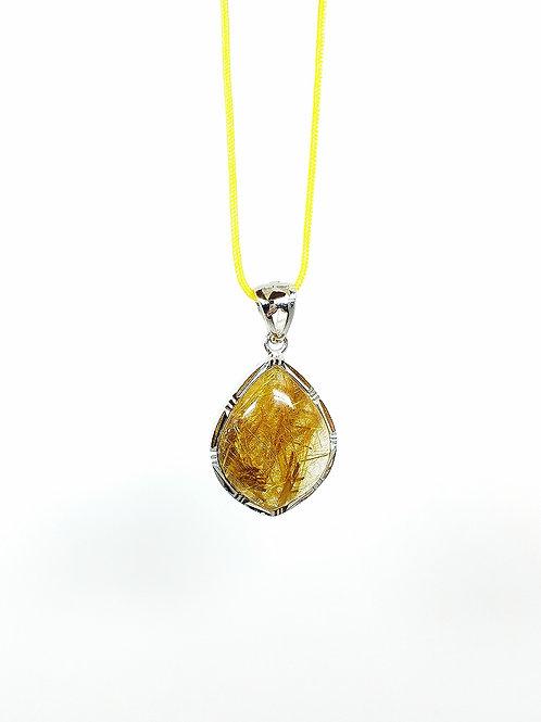 M013  天然優質金髮晶吊墜  7克   RMB1478.00