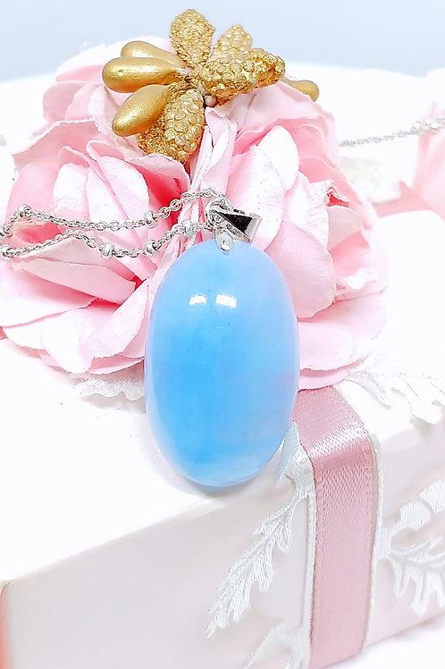 M158 天然海藍寶水晶吊墜   HK$728.00  RMB628.00