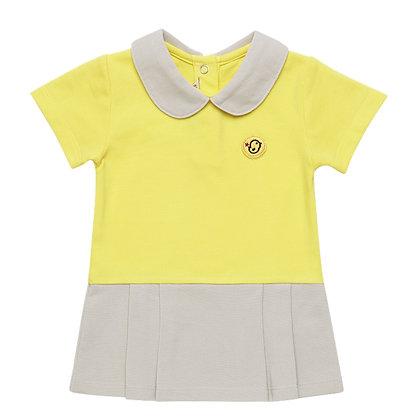 Polo dress (Yellow/Beige)