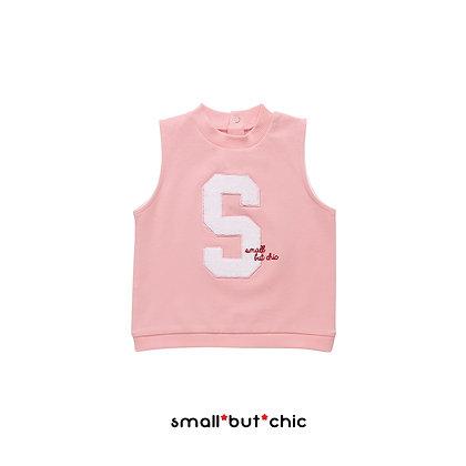 Milky Pink sleeveless Tee