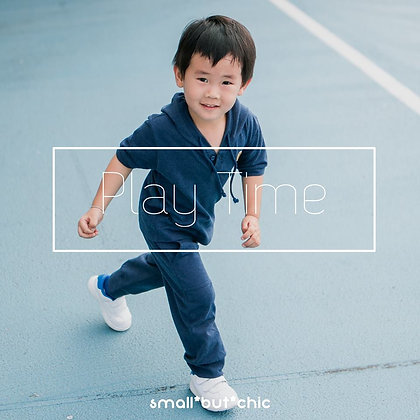 Play Time Hoodie Set(Navy Blue)