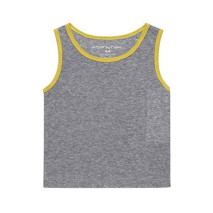 Everyday Tank Top(Grey/Yellow)