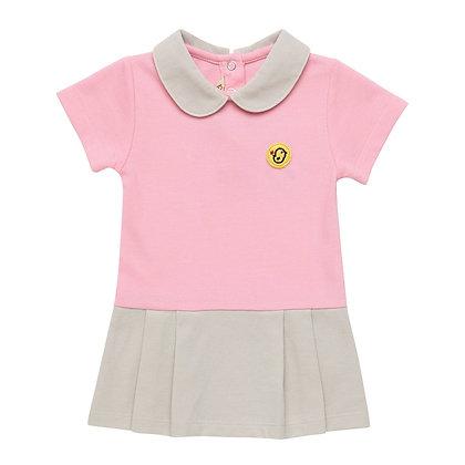 Polo dress (Pink/Beige)