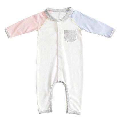 Pastel Pink/Blue sleeves Bodysuit