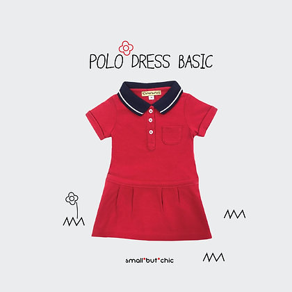 Polo dress (Red/Navy)
